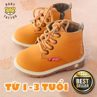 Giày Boots Da Trẻ Em Kiểu Dáng Hàn Quốc Thắt Nơ Cá Tính Sang Chảnh Cho Bé Gái - BABY TATTOO