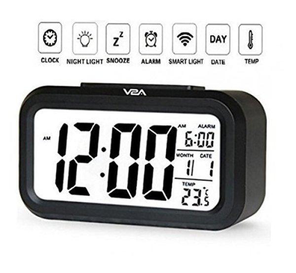 Đồng hồ báo thức - Đồng Hồ Báo Thức Điện Tử Để Bàn Màn Hình LCD Đa Chức Năng: Thời Gian, Lịch, Báo Thức, Nhiệt Độ - Tự động sáng trong ban đêm - Bảo hành 1 đổi 1 tại TuTuShop bán chạy