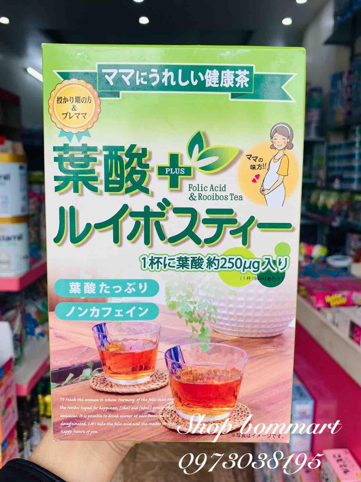 Hồng trà cho bà bầu bổ sung acid folic nhật bản hộp 24 gói