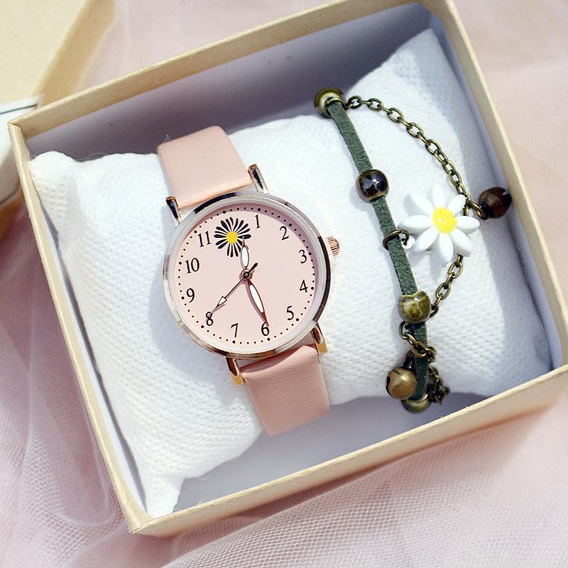 Đồng hồ thời trang nữ Viser V1 mặt hoa cúc cực hot TT2