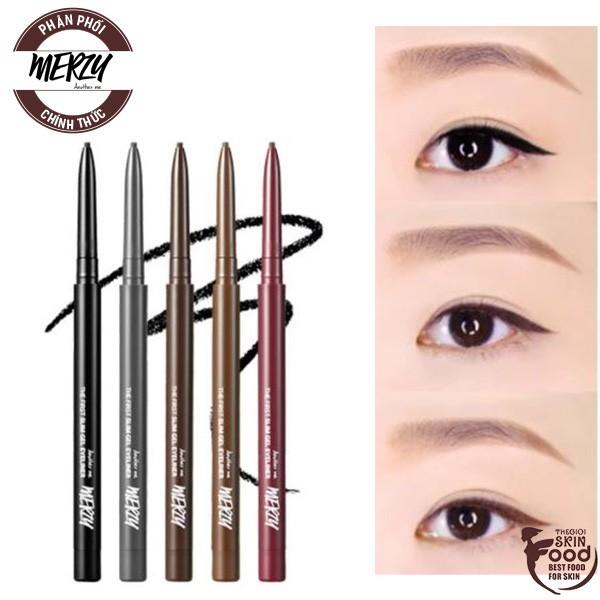 Chì Kẻ Mắt Siêu Mảnh Chống Trôi, Siêu bền, Siêu Lỳ Merzy The First Slim Gel Eyeliner 0.05g