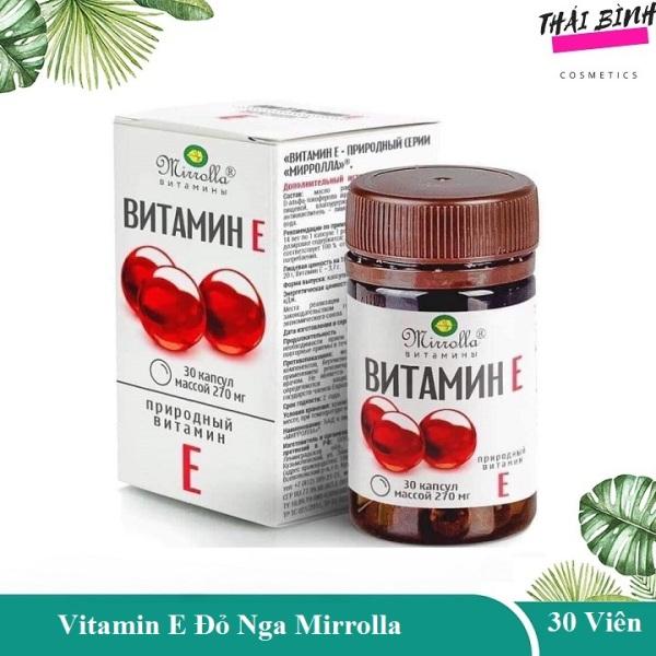 2 Hộp Vitamine E Đỏ Nga 400mg Mirrolla Hộp 30 Viên - vitamine đỏ viên vitamin e 400