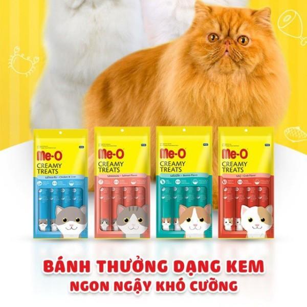 Que Kem Thưởng Cho Mèo Me-O Bánh Thưởng Dạng Kem Me-O Creamy Treast 60G