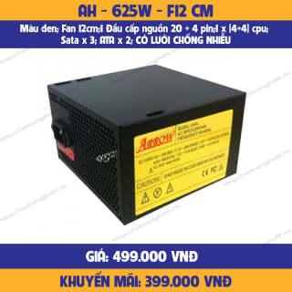 Nguồn máy tính PC ARROW AH - 625W - F12 CM-hàng chính hãng-mới 100% thumbnail