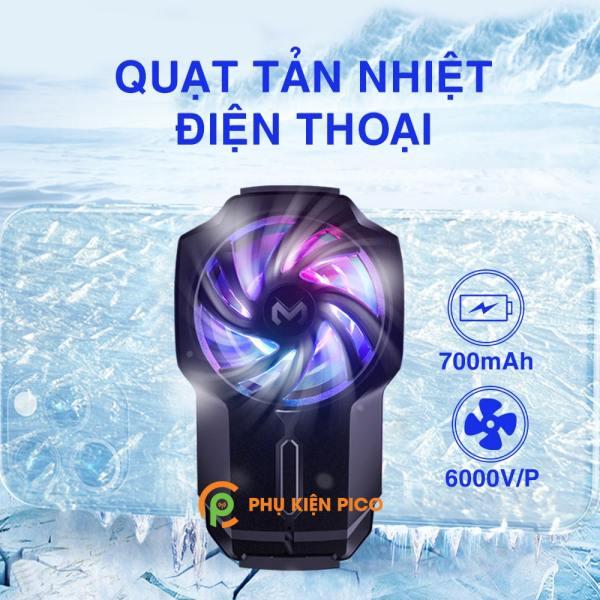 Quạt tản nhiệt điện thoại chính hãng Memo FL05 pin 700mAh tốc độ quạt 6000 vòng/ phút