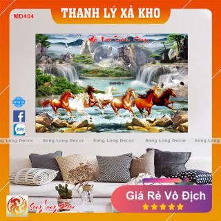 Tranh Dán Tường 3D Mã Đáo Thành Công - MD404- Tranh 3D Phong Thủy - Giấy dán tường 3d - Song Long Decor thumbnail