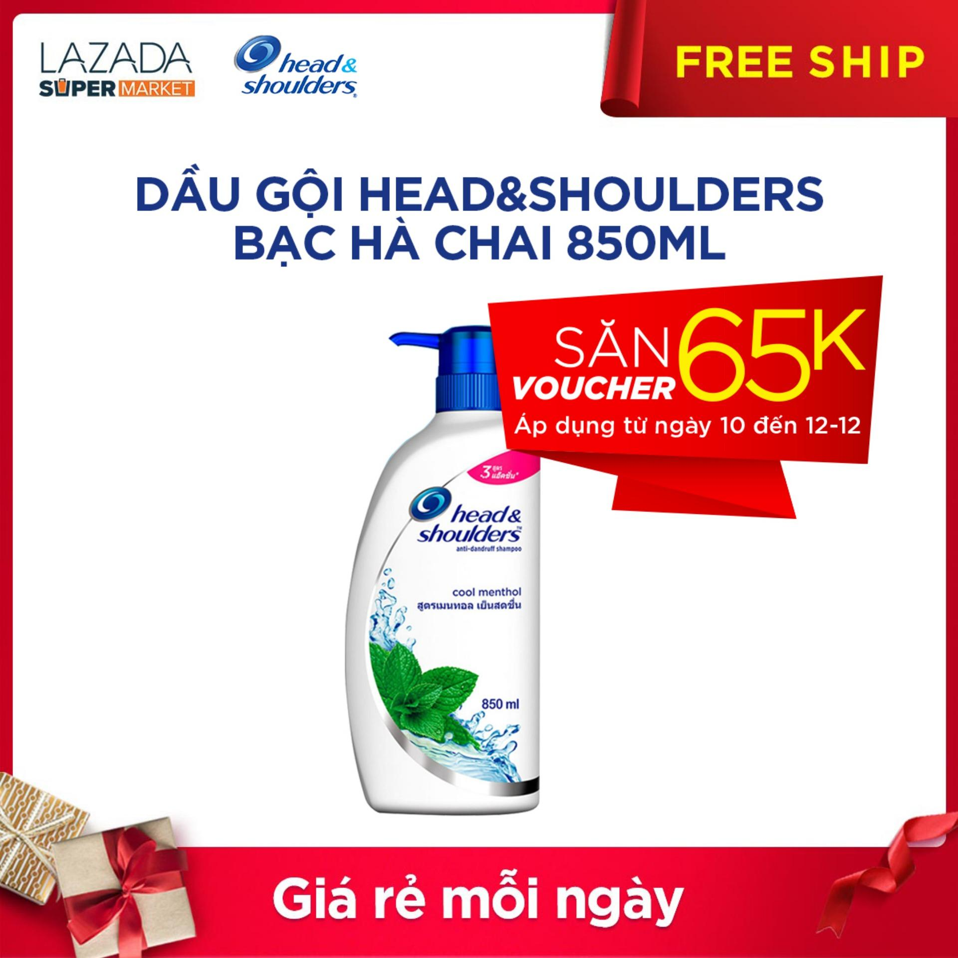 Dầu Gội Head&Shoulders Bạc Hà chai 850ML