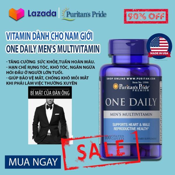 Vitamin tổng hợp cho nam giới, đàn ông ,tăng cường hệ miễn dịch, giảm nguy cơ lây nhiễm virus  One daily men 100 viên của Puritans Pride