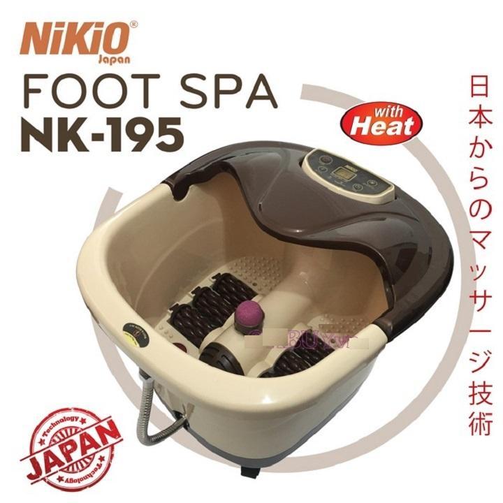 Bồn (chậu) ngâm massage chân Nhật Bản Nikio NK-195 - 4in1 tốt nhất
