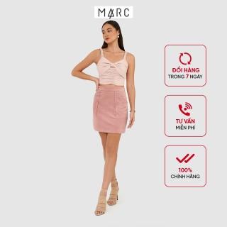 Váy nữ MARC FASHION mini đắp túi nhung thumbnail