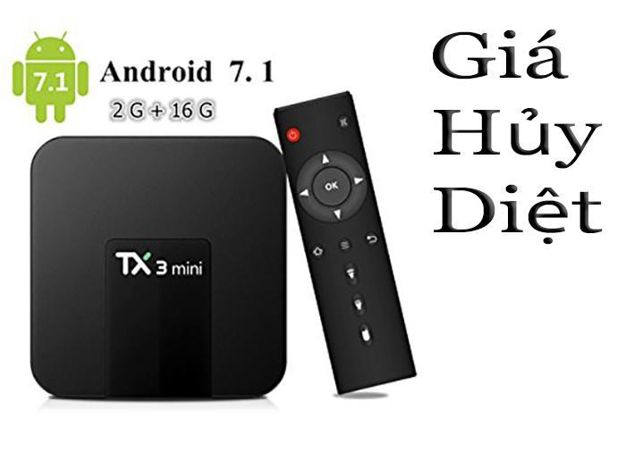 Android Tivi Box Tx3 Mini Ram 2gb - Rom 16gb - Android 7.1.2 ( Giá Hủy Diệt ) By Smart New Vn.