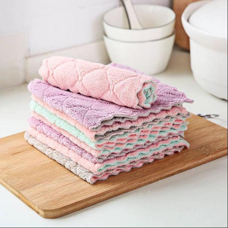 Khăn lau đa năng siêu thấm hút 2 mặt vải mềm mịn không rụng sợi bền đẹp giá rẻ VHT2395