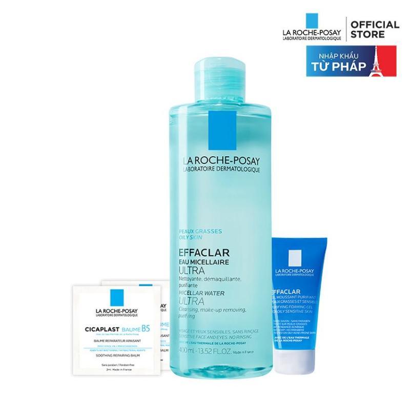 Bộ nước tẩy trang và làm sạch cho da dầu mụn La Roche Posay Effaclar Micellar Water 400ml nhập khẩu