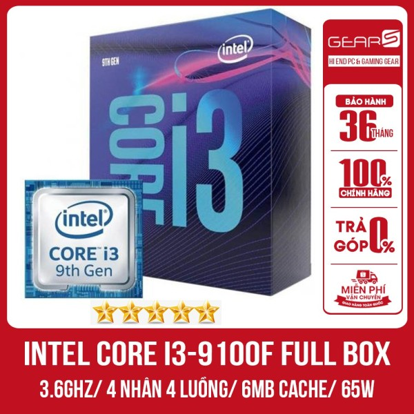 Bảng giá Bộ vi xử lý Intel Core i3-9100F Full Box Mã SRF6N (3.6Ghz, 4 nhân 4 luồng, 6MB Cache, 65W)-LGA 1151 Phong Vũ