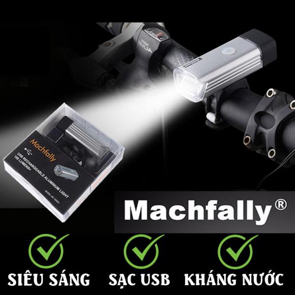 Đèn pin gắn xe đạp Usb, đèn pha xe đạp Machfally
