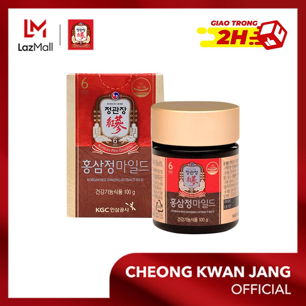 Tinh chất hồng sâm dịu nhẹ KGC Cheong Kwan Jang hộp 100g - Bảo vệ gan, điều hoà huyết áp, tăng đề kháng, thúc đẩy giấc ngủ