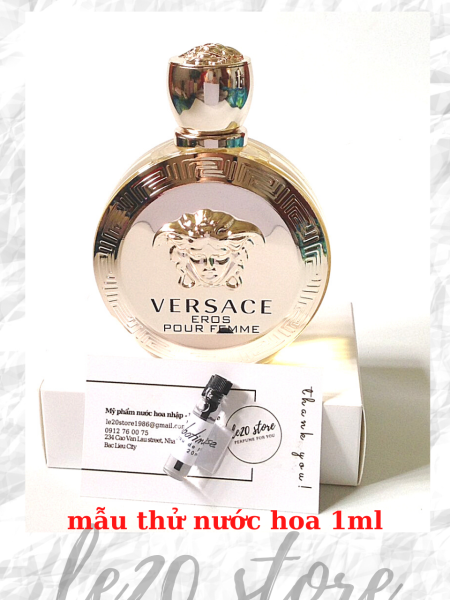 [Mẫu thử 1ml] Nước hoa nữ chính hãng Versace Eros pour femme  - nước hoa nữ thơm lâu - nuoc hoa versace