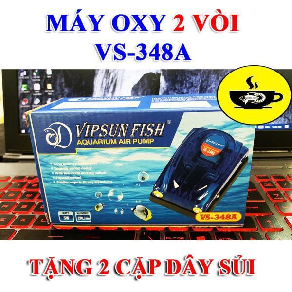 ❄️ Máy bơm oxy hồ cá 2 vòi VIPSUN FISH VS - 348A  Tặng Dây + Sủi oxi