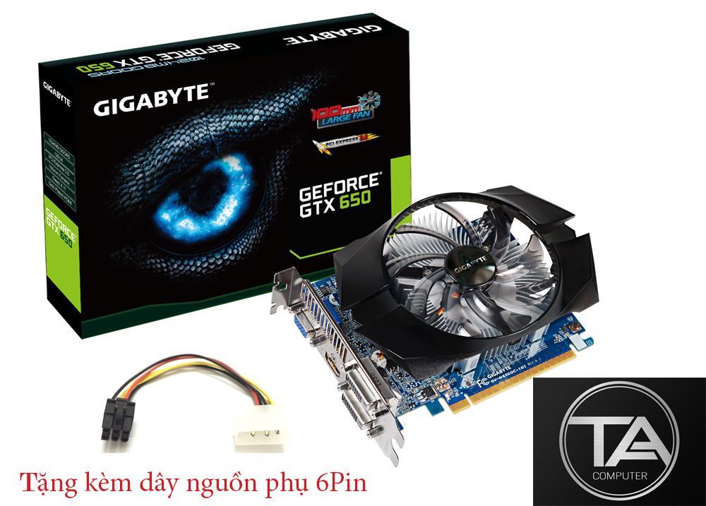 Giá Cạc hình Gigabyte GTX 650 1G/D5 chiến game LOL, Dota, GTA, CF
