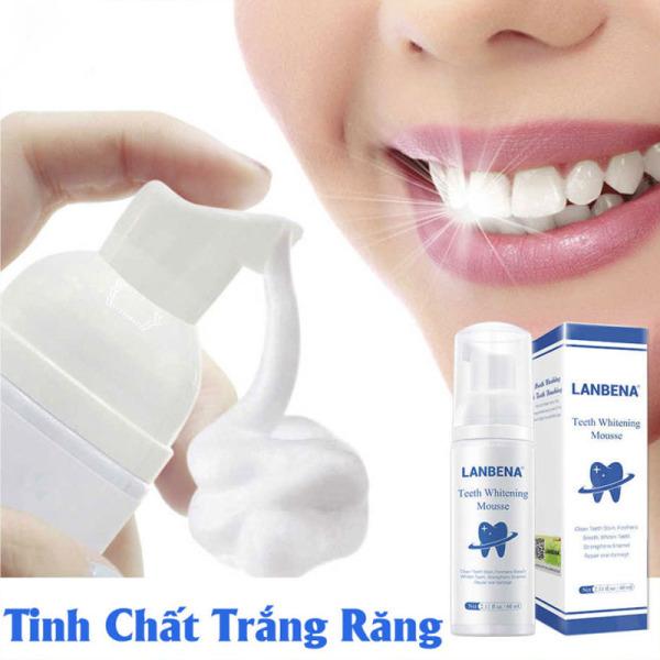 LANBENA Tinh chất làm trắng răng khử mùi hôi miệng kem đánh răng làm sạch răng tẩy vết ố Whitening Teeth Toothpaste Mousse giá rẻ