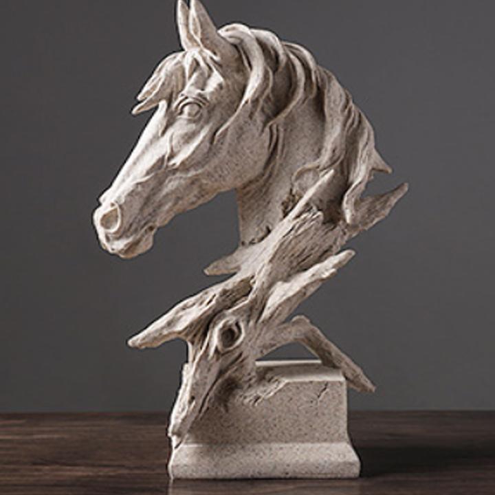 Tượng Ngựa Phong Thủy Bằng COMPOSITE CAO CẤP - Tượng Đầu Ngựa Nghệ Thuật Điêu Khắc SẮC NÉT, CÁ TÍNH, Decor Trang Trí Bàn Làm Việc, Tủ Kệ, Mang Đến THÀNH CÔNG Cho Gia Chủ