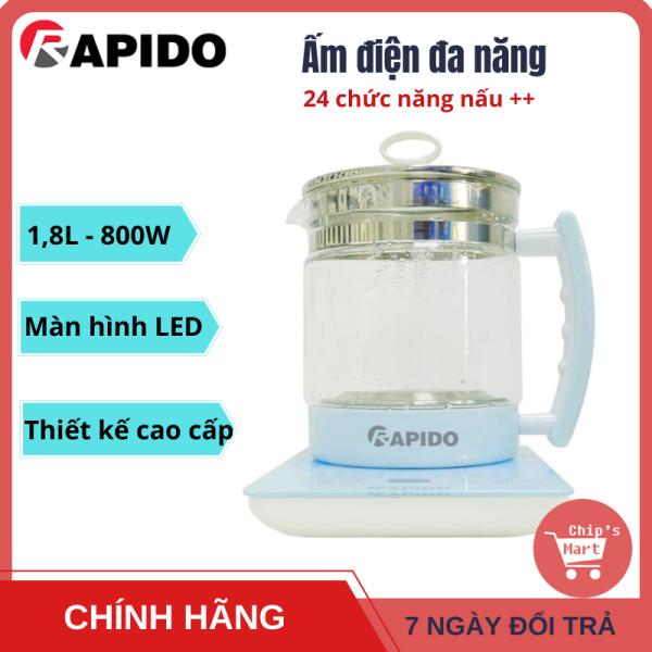 Bảng giá [HOT] Ấm điện đa năng RAPIDO – 24 chức năng nấu tự động – Nấu nước, pha trà, café, hầm cháo, chưng yến, sắc thuốc bắc, nấu mì, nấu súp, nấu lẩu, sữa chua, chè, hâm sữa, hâm nóng đồ ăn… tiện lợi Điện máy Pico