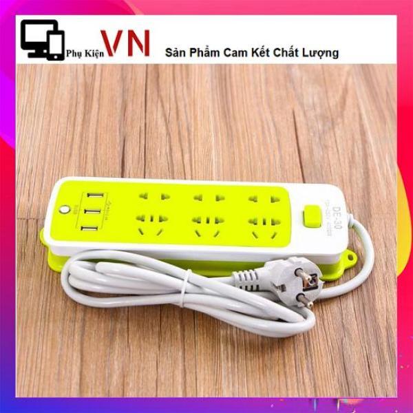 Ổ Cắm Điện Đa Năng - Ổ Cấm Điện 6 Lỗ Và 3 Cổng Sạc USB