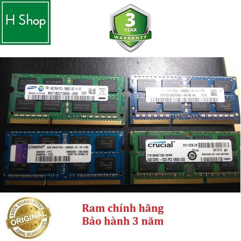 Ram Laptop DDR3 4Gb bus 1333 - 10600s, bảo hành 3 năm