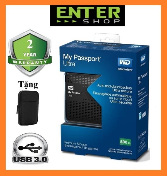 Bảng giá Ổ cứng di động WD My Passport Ultra 500Gb Usb 3.0 Tặng túi chống sốc Phong Vũ
