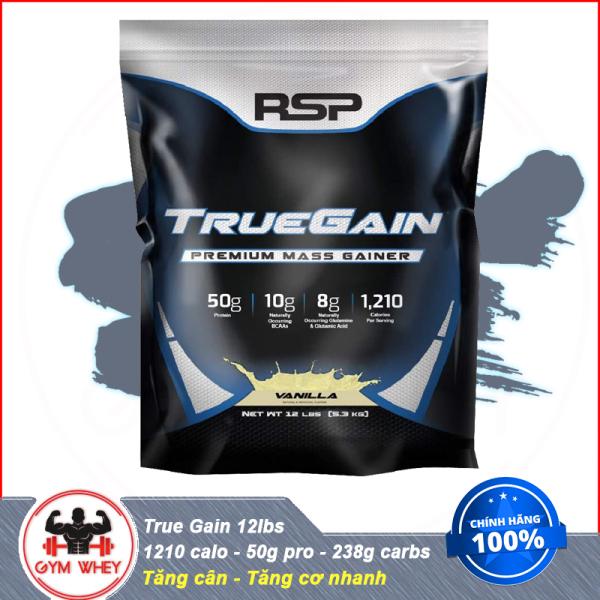 Sữa Dinh Dưỡng Tăng Cân Nhanh RSP True Gain 12 lbs (5.5 kg) - Chính Hãng 100%
