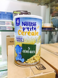 Bột pha sữa Nestle 5 vị ngũ cốc 6 tháng 400g date 2022 thumbnail