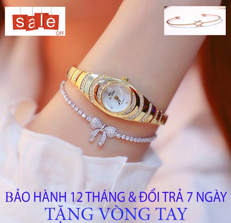 Đồng hồ nữ BS M2 [TẶNG VÒNG TAY] [Liên quan: nữ cao cấp - đeo tay nữ đẹp - cặp đôi - dây da - dong ho thuy sy giá rẻ - đồng hồ cơ - vòng tay nữ - thông minh - thể thao - dây thép - quai thép - quai da - dây lưới - nam châm]