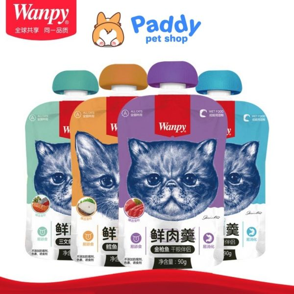 Pate Wanpy Nắp Vặn Dễ Bảo Quản Cho Mèo (90g)