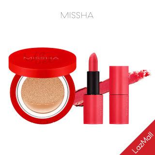 [COMBO] Son Lì MISSHA Dare Rouge 3.5g + Missha Velvet Finish Cushion SPF50+ PA+++ 15g No.21 thumbnail