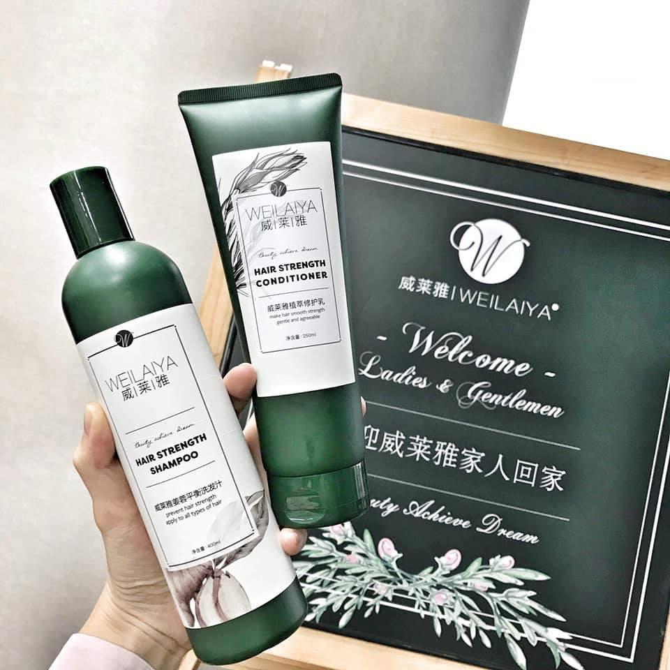 Gội Xả Gừng Weilaiya kích thích mọc tóc mẫu mới 400ml (Tặng Set Mini)