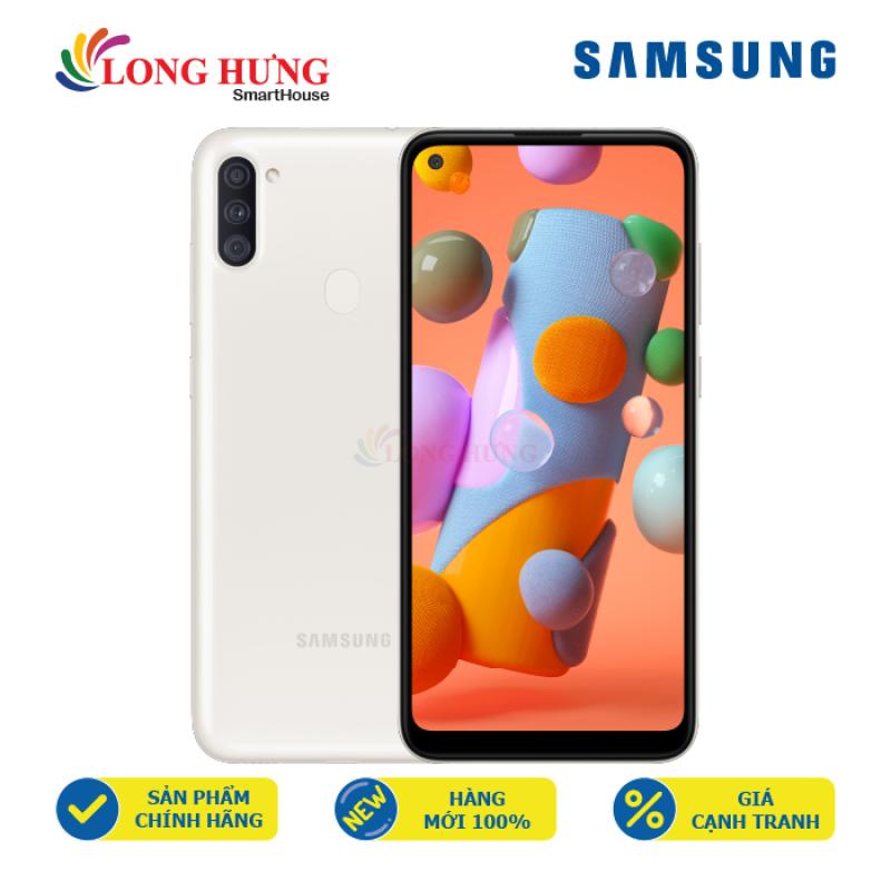 Điện thoại Samsung Galaxy A11 (3GB/32GB) - Hàng chính hãng - Màn hình tràn viền 6.4  HD+, bộ 3 Camera sau, Pin 4000mAh, cảm biến vân tay