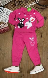 Bộ thun dài tay thỏ XINH yêu cho bé gái mặc mùa lạnh hoặc mặc đi ngủ - thời trang chính hãng Sumikid - chất vải 100% cotton cao cấp - quần áo dài tay cho bé gái