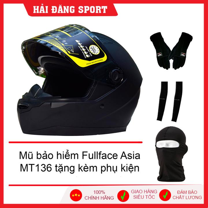 [Quà Tặng] Mũ Bảo Hiểm Fullface Asia Tặng Phụ Kiện - Nón Phượt - Nón Bảo Hiểm Trùm Đầu Giá Rẻ Bất Ngờ