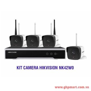 HIKVISION BỘ 4 CAMERA IP WIFI VÀ 1 ĐẦU GHI HÌNH WIFI NK42W0 WIFI KIT thumbnail