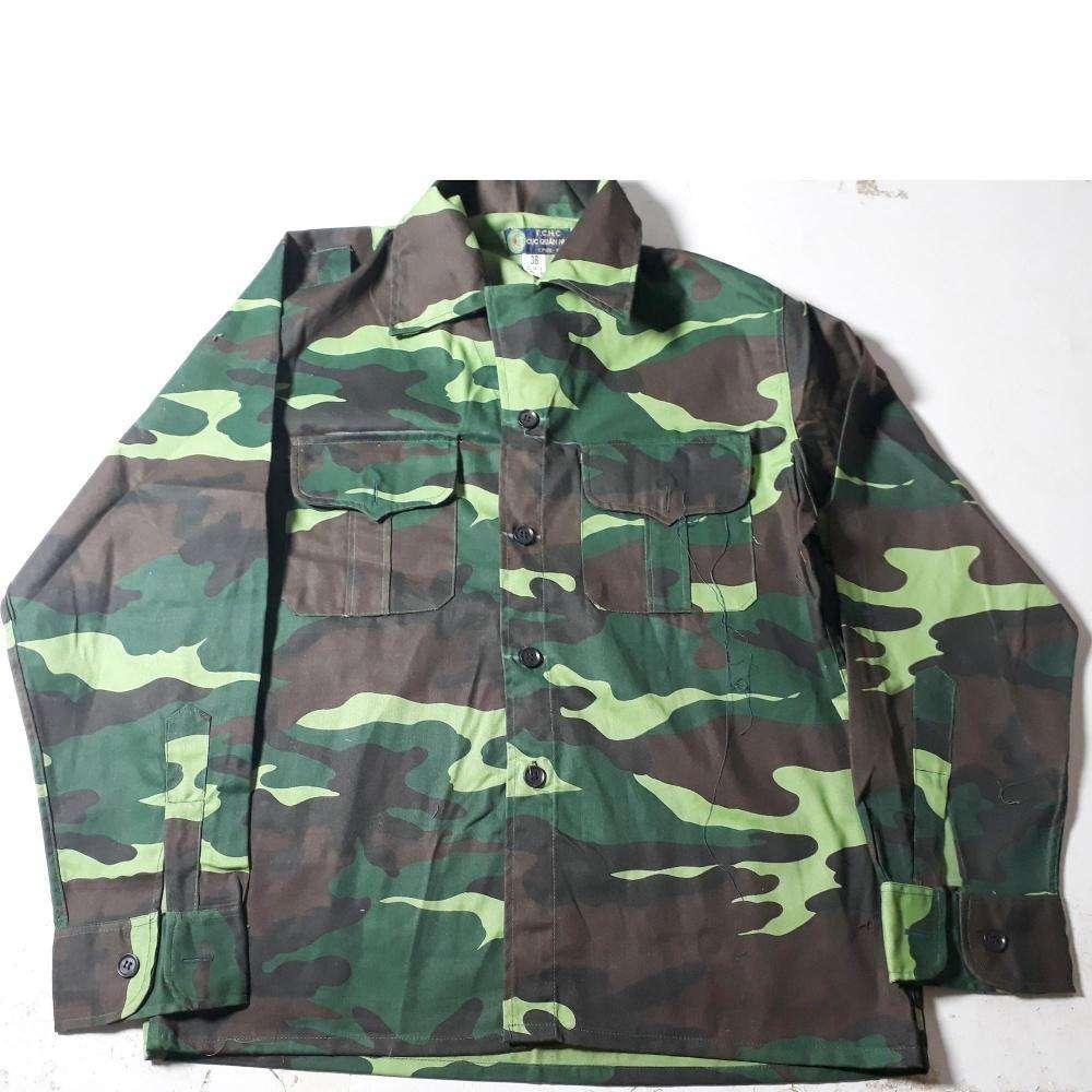 Bộ quần áo rằn ri - Size 4 (Cao từ1.65m - 1.69m. Nặng từ 52kg - 56kg)