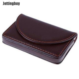 Jettingbuy Pocket Leather Tên Danh Thiếp Thẻ ID Thẻ Tín Dụng Chủ Thẻ Ví W Hộp thumbnail