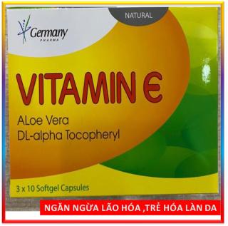 Viên Uống Đẹp Da Vitamin E đỏ 4000mcg, Aloe vera 500mg Giúp sáng mịn da, chống lão hóa thumbnail