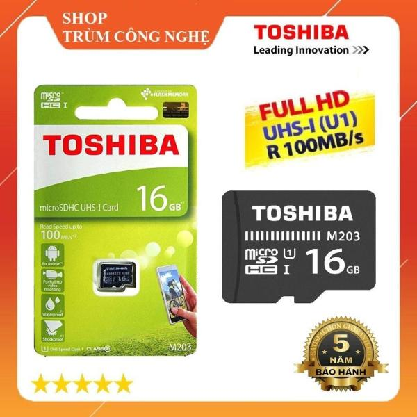 Thẻ nhớ MicroSD Toshiba M203 16GB Class10 100MB/s - Dành cho camera và điện thoại (Đen)