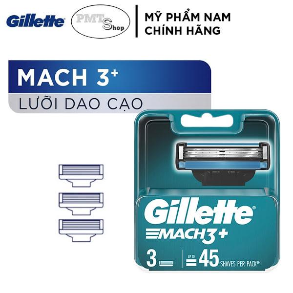 Hộp Lưỡi dao cạo râu Gillette Mach3 Classic vỉ 3 cái - Mach 3 Basic cao cấp