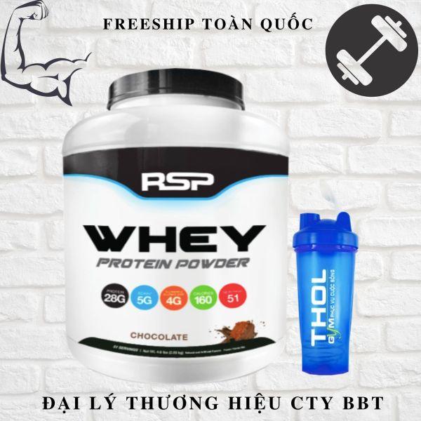 RSP Whey Protein Powder-51 lần dùng+ Bình Lắc cao cấp