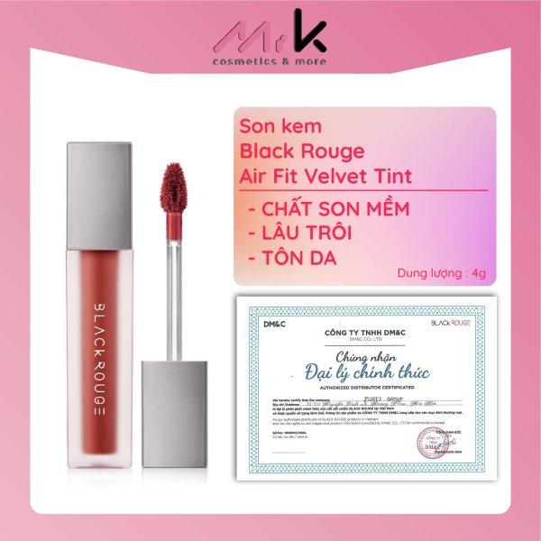 Son kem Black Rouge Air Fit Velvet Tint chính hãng Hàn Quốc chất son mềm, lâu trôi, tôn da giá rẻ