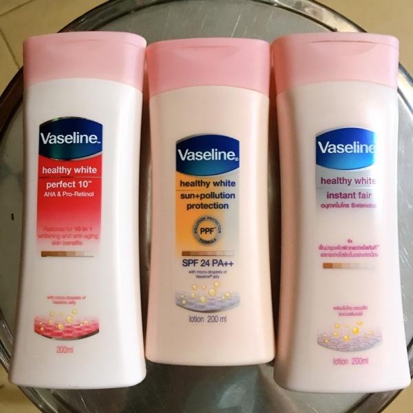 Sữa dưỡng thể Vaseline dưỡng trắng 10in1 200ml giá rẻ