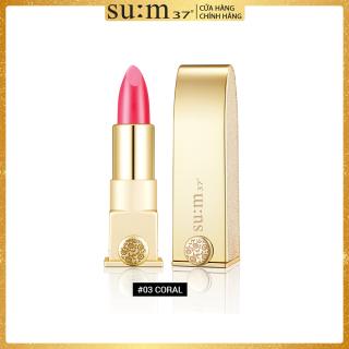 [Quà tặng không bán] Son lì hoàng kim dưỡng ẩm Su m37 LosecSumma Elixir Golden Lipstick 1.3g (màu 03 Coral) thumbnail