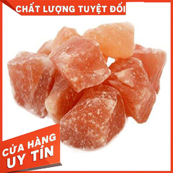 [HCM]Đá muối hồng Himalaya Viên Thô 1kg (kích thước 4cm-7cm có hình dạng tự nhiên)