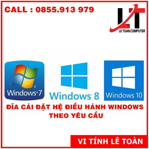 Bảng giá ĐĨA CÀI ĐẶT XP-W7-W8.1-W10 THEO YÊU CẦU Phong Vũ
